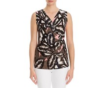 Nic+Zoe Women's Aloha Wrap Top, Black