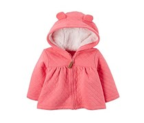 Carters Hooded Fleece-Lined Quilted Jacket, Pink