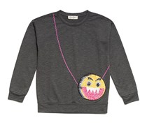 Jessica Simpson Joy Purse Sweatshirt, Charcoal