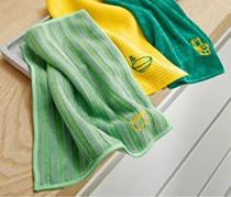 Bath Cleaning Cloth Set of 3, Light Green/Dark Green/Yellow