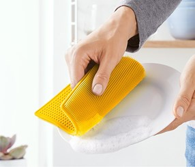 Silicone Dishwashing Cloth, Yellow