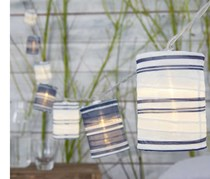 LED Lantern String Lights, Blue/White