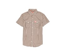 Superdry Washbasket Short Sleeve Shirt, Brown/White
