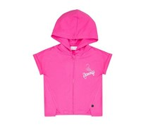 Riccione Girl's Zip Front Hooded, Pink