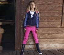 Tuta STY Tyess Girl's Hooded Jacket, Navy