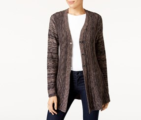 Style & Co Marled Cardigan, Neutral Combo