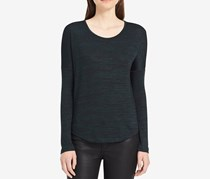 Calvin Klein Jeans Relaxed Long-Sleeve T-Shirt, Olive Green Black