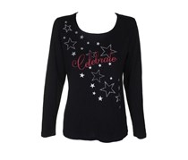 Celebrate Glitter Graphic T-Shirt, Deep Black