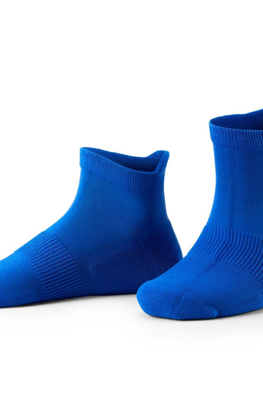 Running Socks Set of 2, Blue/Navy Blue