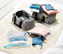 Vacuum Travel Bags Set of 3, Transparent