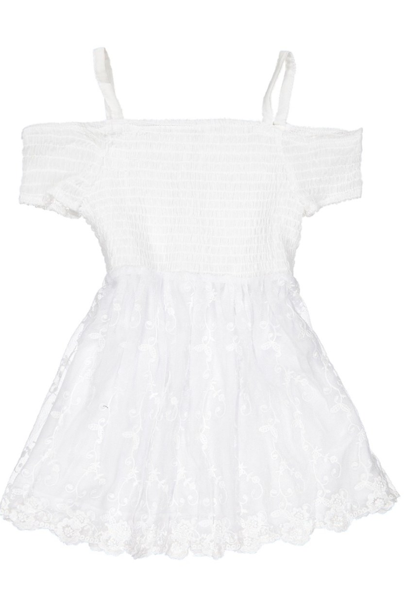 Kid's Girl Dress, White