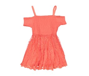Bebe Girl's Lace Dress, Coral
