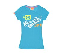 Superdry Women's Graphic Print Tops, Blue
