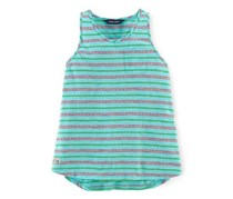 Ralph Lauren Girls Striped Cotton Tank, Blue