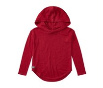 Ralph Lauren Childrenswear Hi-Low Cotton Hooded Pullover, Holiday Red