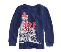 Epic Threads Toddler Cool-Cat Graphic-Print Thermal, Medieval Blue