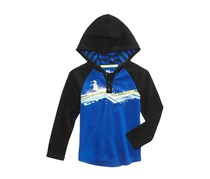 Epic Threads Toddler Boys Snowman Graphic-Print Hooded Henley, Lazulite