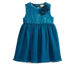 Penelope Mack Sequins & Mesh Tulle Dress, Teal