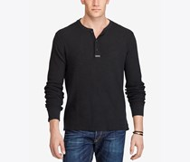 Polo Ralph Lauren Men's Big & Tall Jacquard Henley, Black