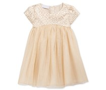First Impressions Baby Girl's Brocade & Tulle Dress, Gold