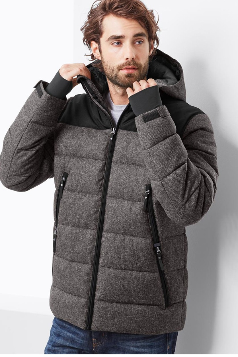 46c7f12f0 Shop Tchibo Mens Quilted Jacket, Heather Grey for Men Clothing in ...