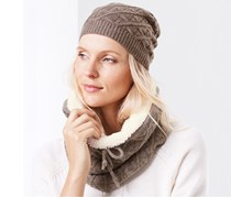 Women's Tube Scarf, Brown