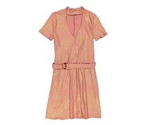 Dee Elly Women's Metallic Dress, Blush