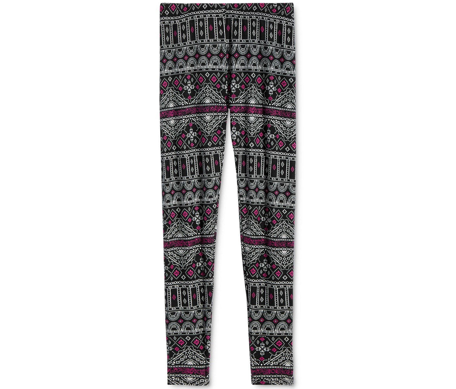Epic Threads Girl's  Geo-Print Leggings, Black