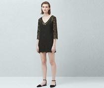 Mango Lace Dress, Black