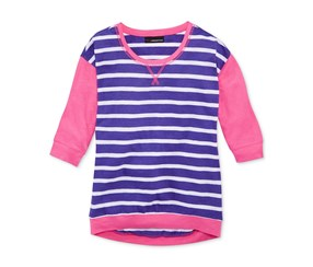 Miss Understood Girl's Striped Top, Pink/Purple