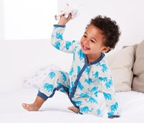 Baby Pajamas Set of 2, Blue/White/Turquoise