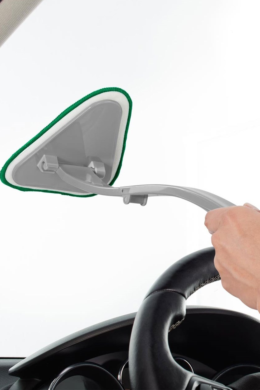 Window Cleaner Car With Microfibre Pad, Grey/Green