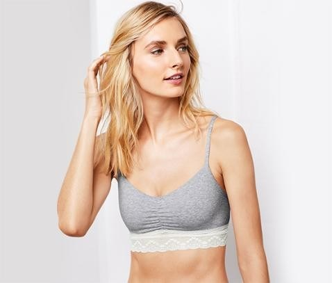 Women's Home Bra, Grey