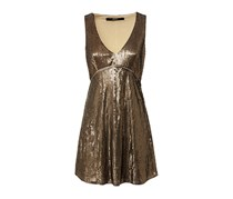 Guess Women's Sequin Dress, Brown Olive