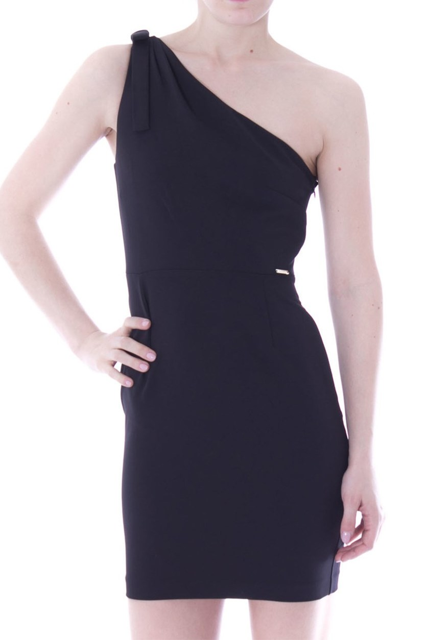 Women's Single-Shoulder Dress, Black