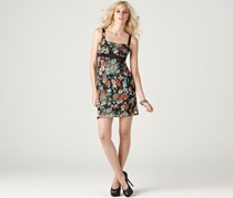 Buffalo David Bitton Floral Strap Open Back Chiffon Dress