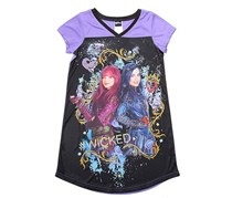 Disney Girl's Graphic Top, Purple/Black