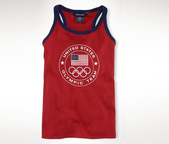 Ralph Lauren Girl's Olympic Top, Red