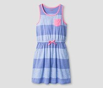 Cat & Jack Girl's Stripe Pocket Dress Jacaranda, Purple