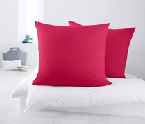 Jersey Pillow Cases Set of 2 80 x 80 cm, Pink
