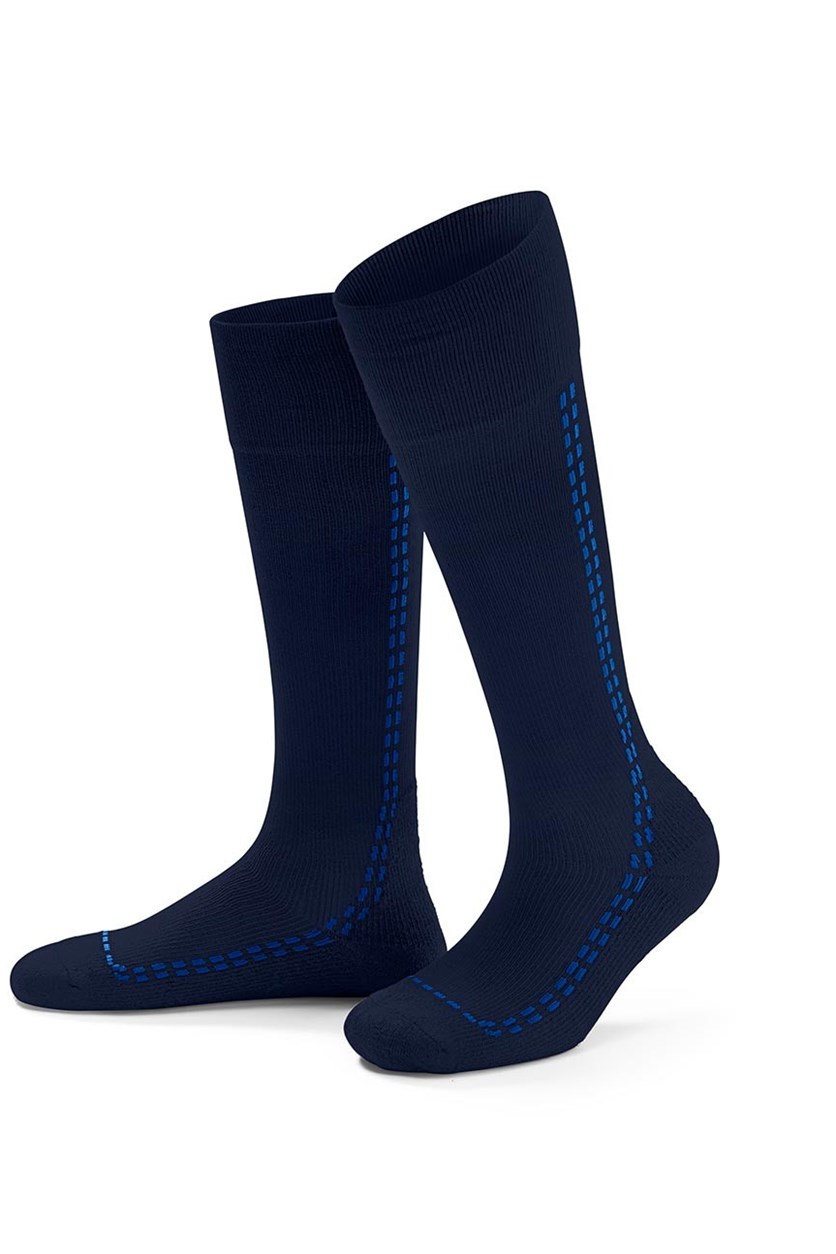 Sports Compression Knee Socks, Blue