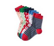 Girls Socks Set of 5, Multicolored