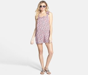 BP. Women's Short Overalls Cover-Up, Floral