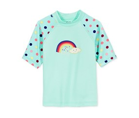Roxy Rainbow & Dot Short-Sleeve Rashguard, Aqwa