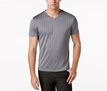 Alfani Men's Bar-Striped Performance T-Shirt, Grey