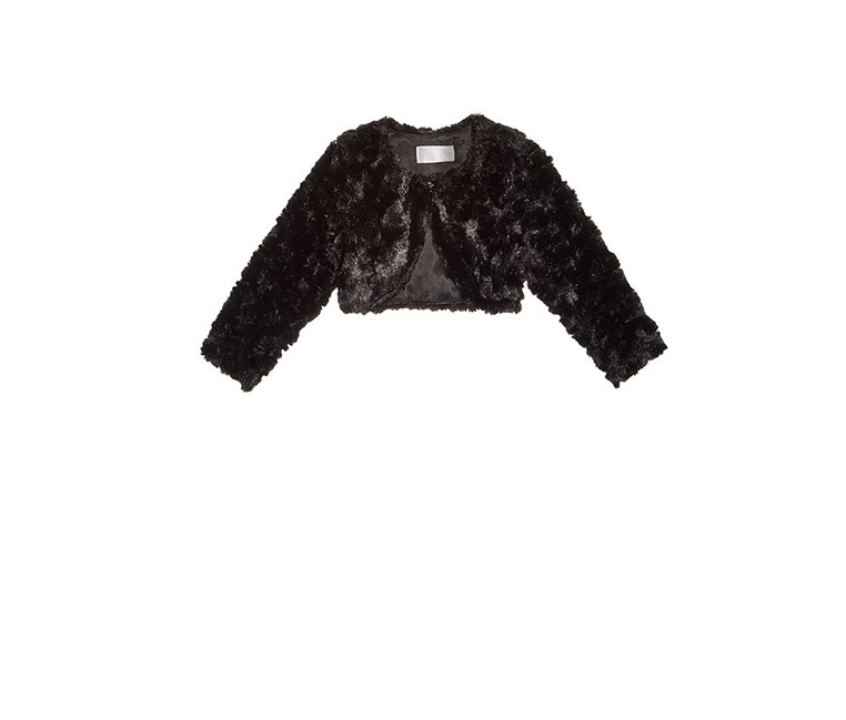 Baby Girls Faux-Fur Jacket, Black