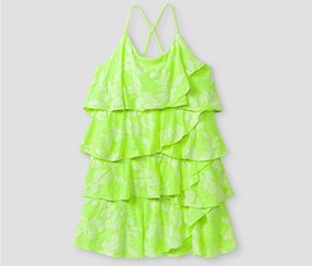 Cat & Jack Baby Girls' A Line Dresses, Lime Green