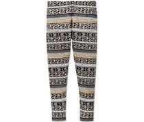 Epic Threads Girls Metallic-Print Leggings, Holiday Ivory
