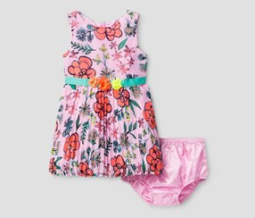 Cat & Jack Baby Girl's A Line Dresses, Pink