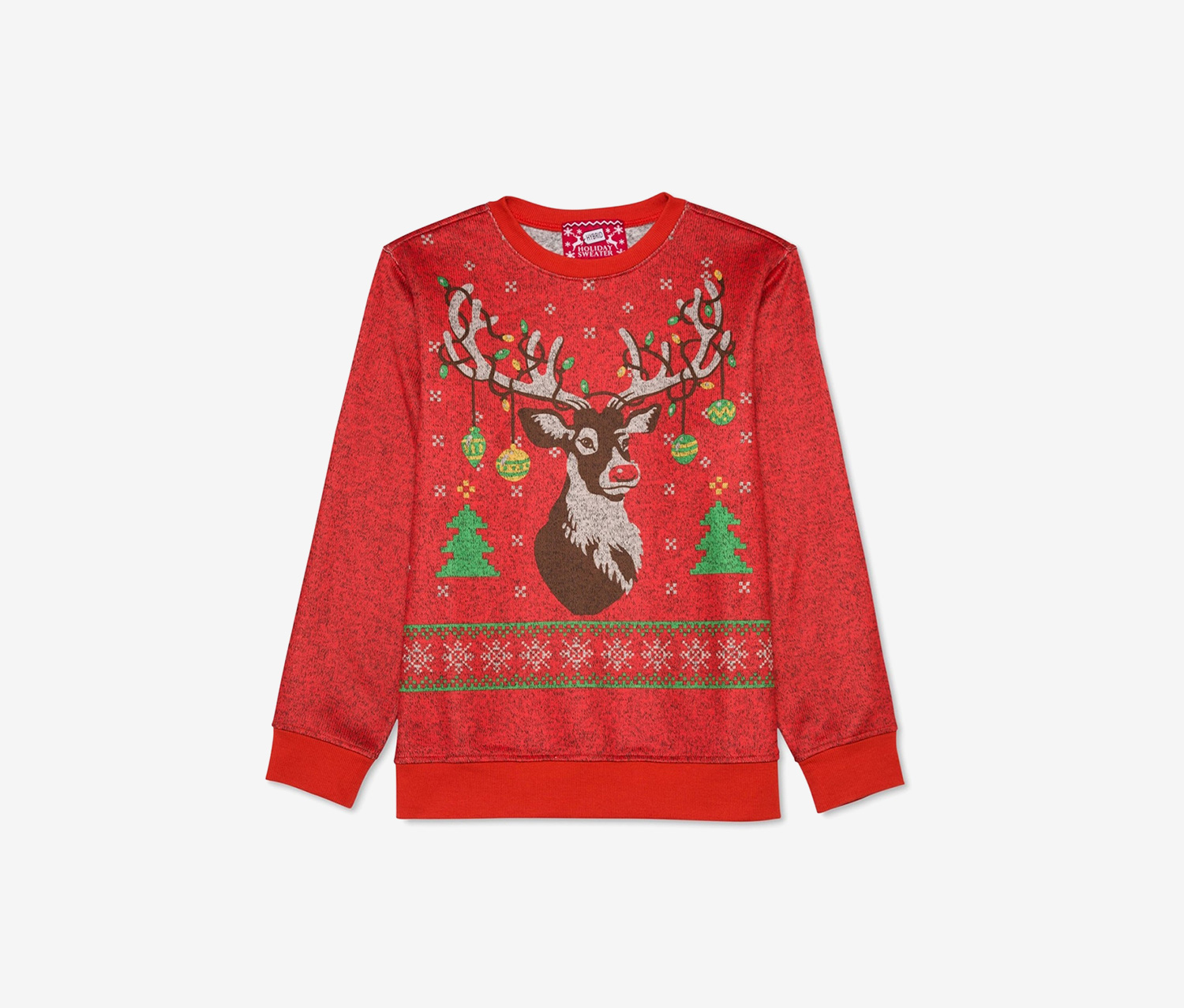 Boys Holiday Pullover Knit Sweater, Red